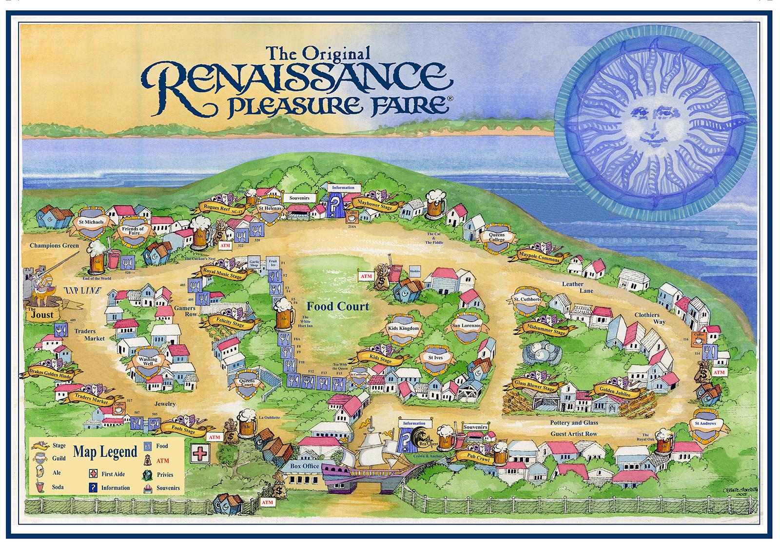 Map of the Faire  The Original Renaissance Pleasure Faire